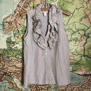 J. Crew 100% Silk Sleeveless Blouse